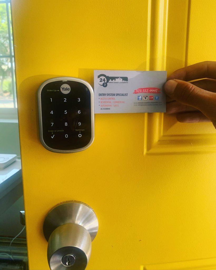 Yale Smart Lock installed on residential door